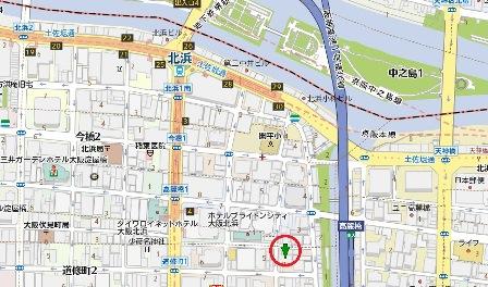 道修町イタリアン居抜き地図