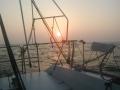 朝日とともに銚子を出港