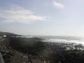 溶岩海岸の波