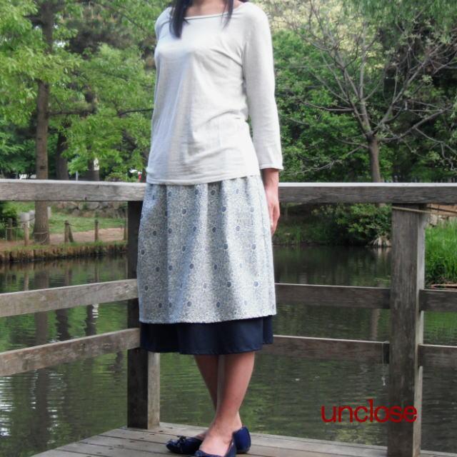 キット/アンティーク更紗とローンで作るレイヤーギャザースカート