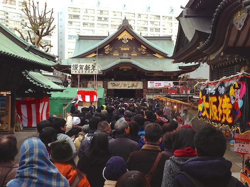 湯島天神初参り2015