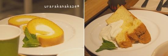 森のカフェ&雑貨 ル・ピック ロールケーキ シフォンケーキ