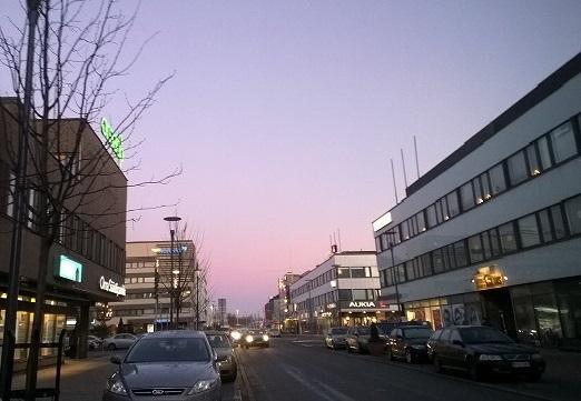 夕暮れの街1