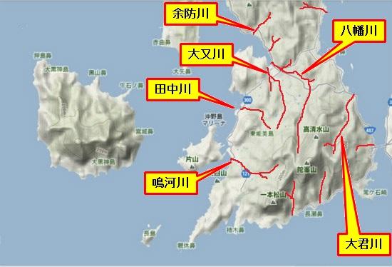 5)大柿町南部・八幡、大又川
