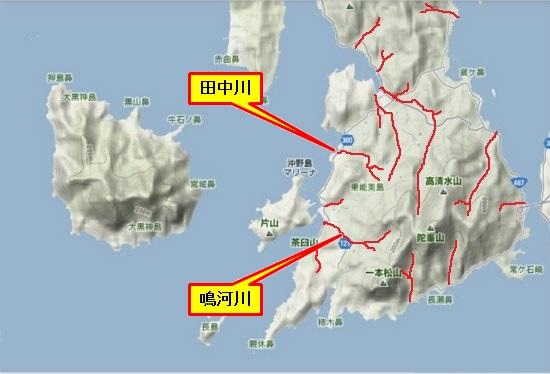 5)大柿町南部・田中川・鳴河川