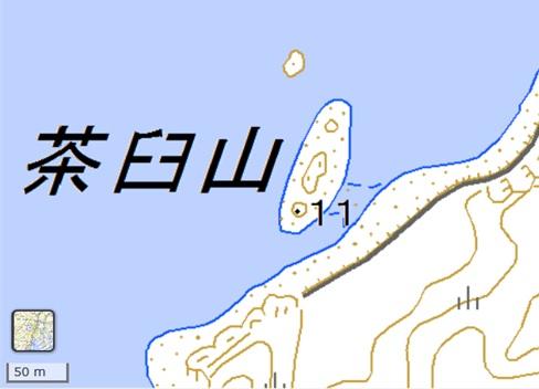 茶臼山国土地理院