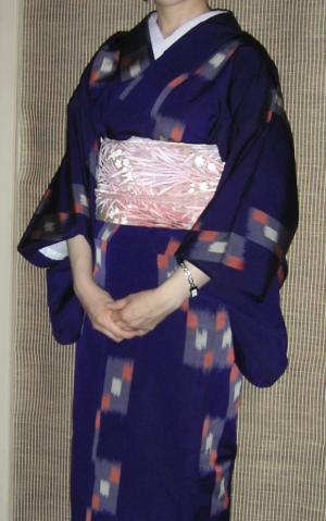 紫単衣コーデ
