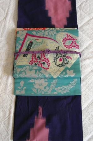 紫紗アンティークコーデ1
