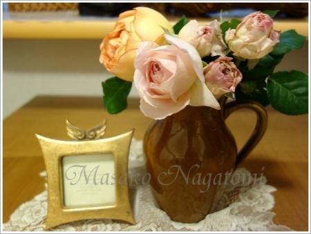 茶色の花瓶