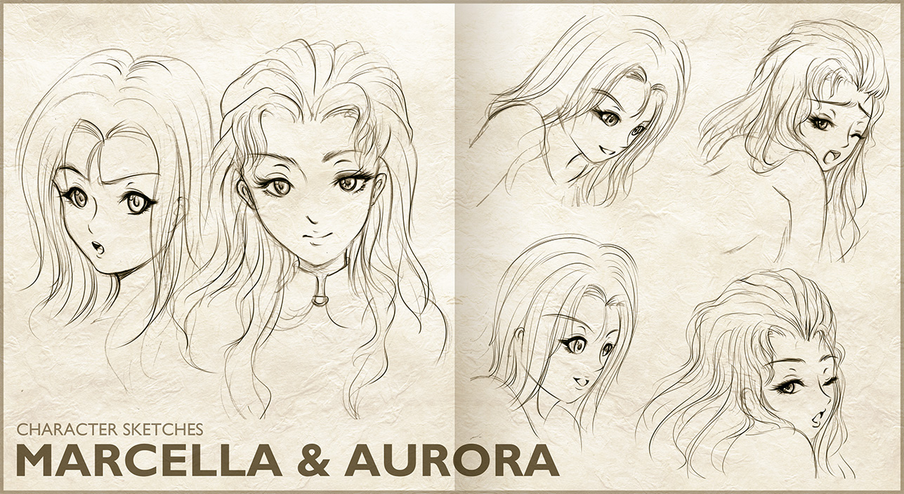 Marcella and Aurora : Sketch