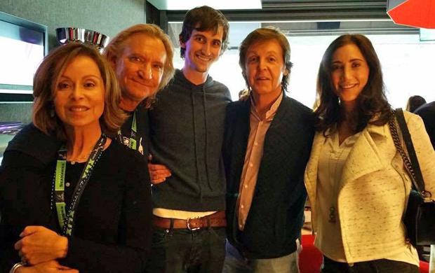 Marjorie Bach , Joe Walsh , Nancy's son , Paul McCartney & Nancy Shevell - 2015.2.1 Super Bowl