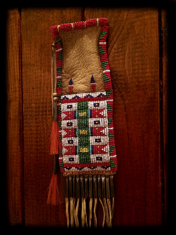 Beaded Pouch (tobacco pouch style) 2