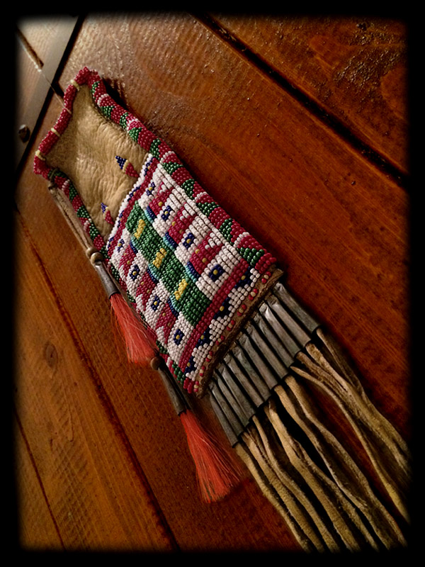 Beaded Pouch (tobacco pouch style) 4