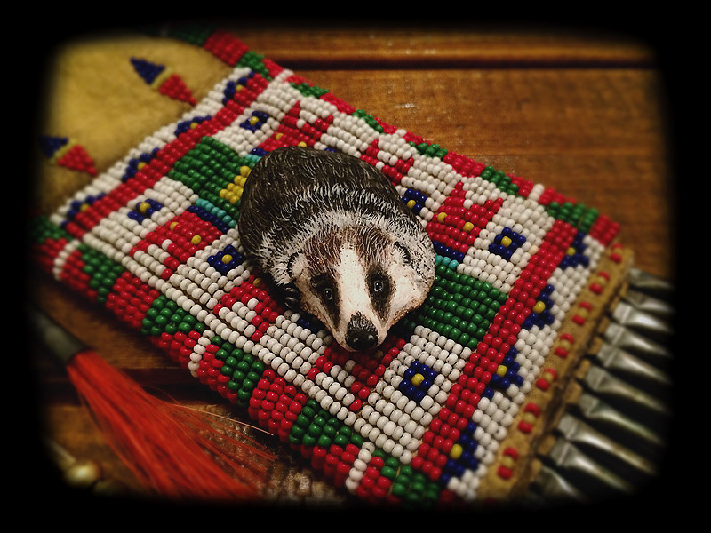 Beaded Pouch (tobacco pouch style) 5