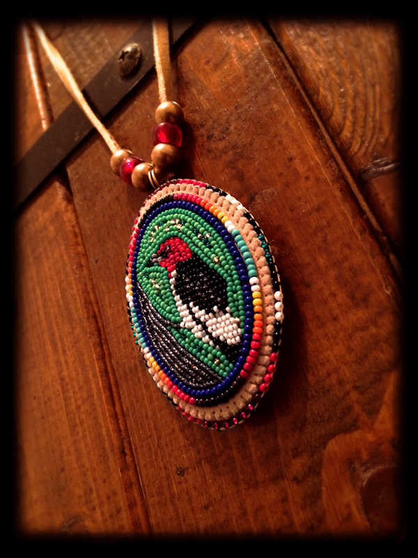 Redheaded Woodpecker Pendant Head 4