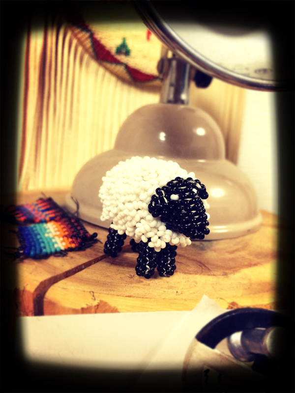 beaded Zuni sheep