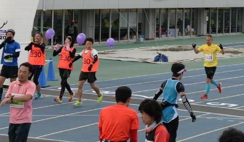奈良マラソン2014ゴール
