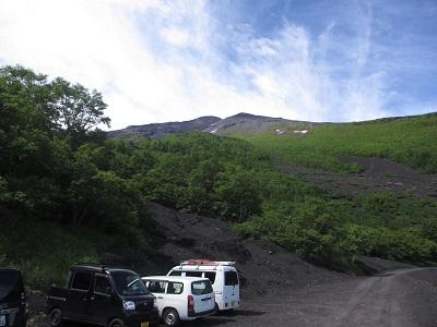 五合目から山頂を撮影