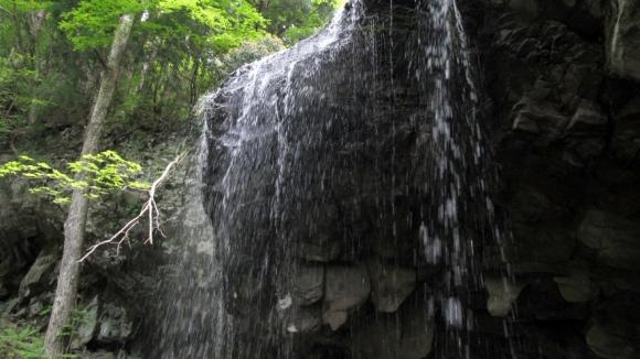 岩井滝 サイドから