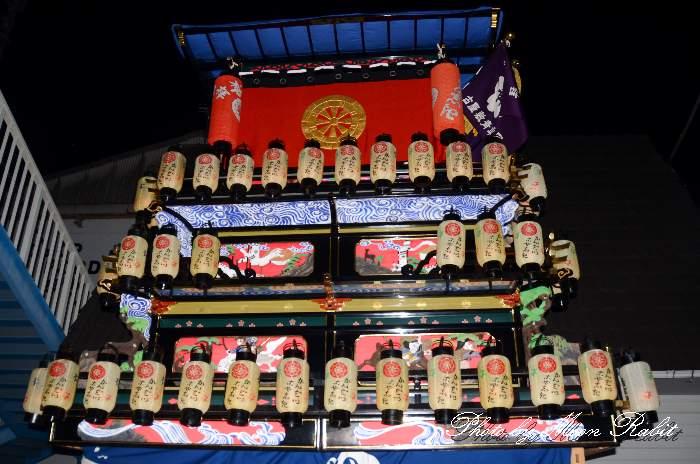 祭り提灯 古屋敷屋台(古屋敷だんじり) 西条祭り 伊曽乃神社祭礼 愛媛県西条市