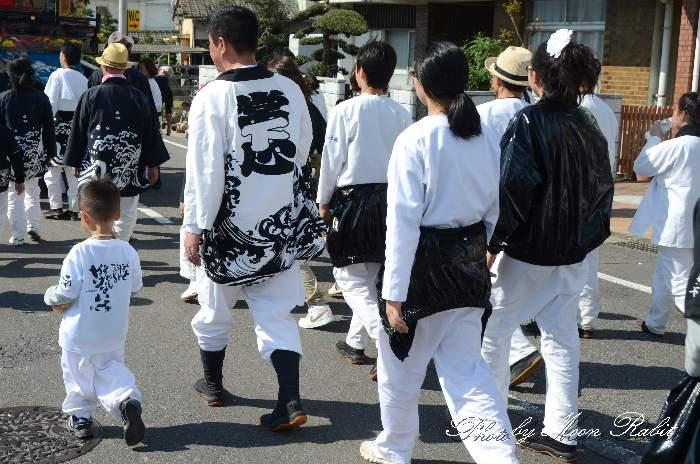 中南だんじり(常心下組屋台) 祭り装束 西条祭り
