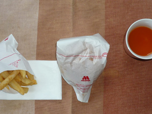 モスバーガー,ポテトS,野菜ジュース