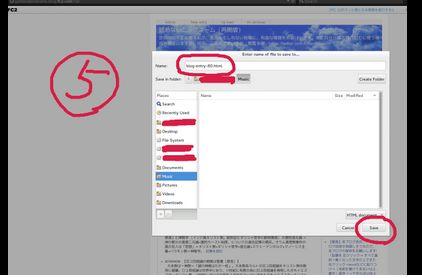 手順⑤プー閣下による私のブログ記事保存法