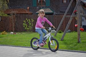 子供の自転車の補助輪を外しました