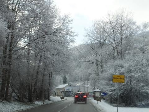 雪のドライブ1