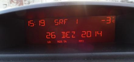 気温マイナス3度