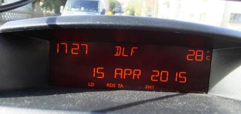 4/15 気温28度