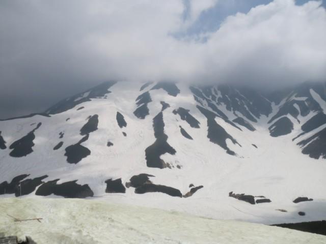 6月13日 雷鳥沢雲の中