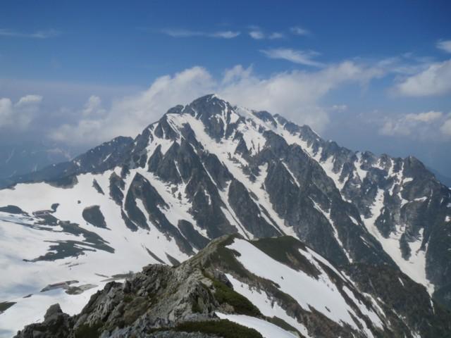 6月13日 別山2880から剱岳