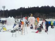 20150208雪像づくり風景