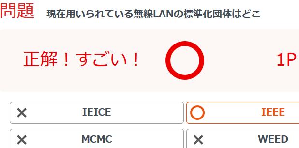 現在用いられている無線LANの標...