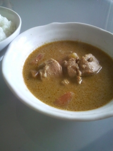 THAI YELLOW CURRY盛付