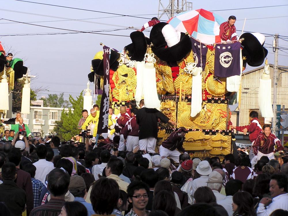 大江太鼓台対中須賀太鼓台の喧嘩