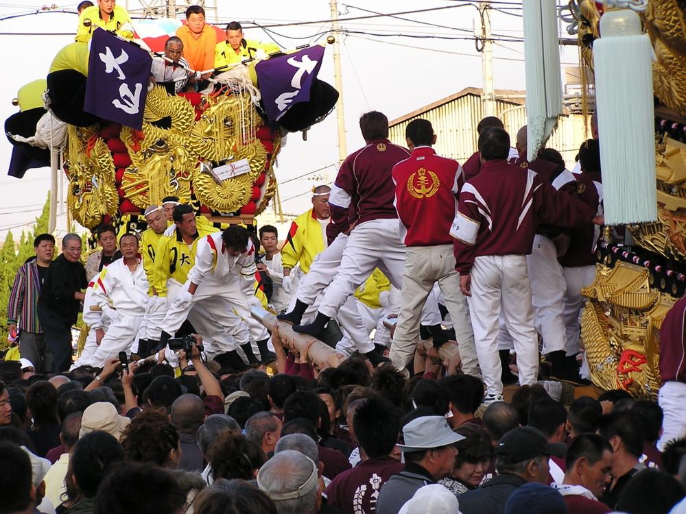 大江と中須賀太鼓台が喧嘩