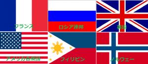 国旗 赤と青