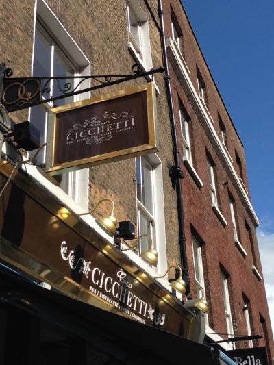 ロンドン Covent Garden のイタリアン CICCHETTI