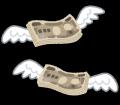 お金が飛ぶ~
