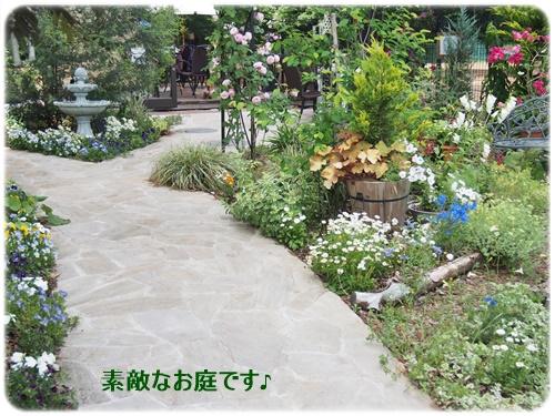 カフェのお庭