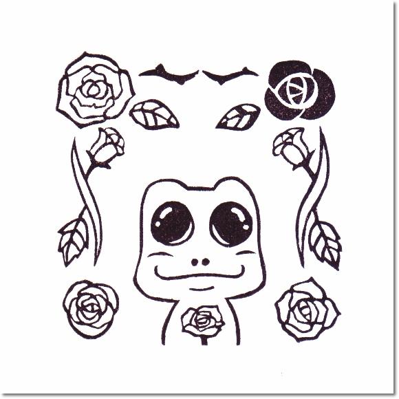 花とチャムズシリーズ*バラとそーたろーはんこ♪の巻