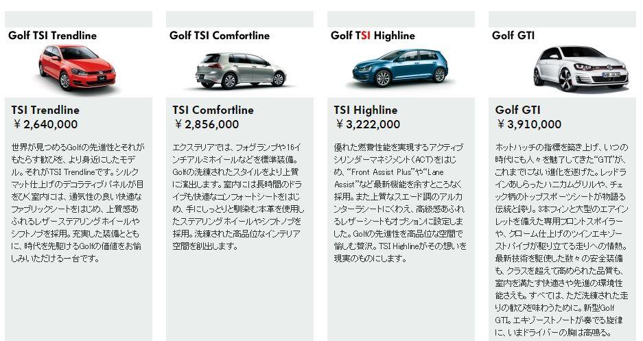 VW ゴルフ 価格