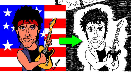 Bruce Springsteen caricature