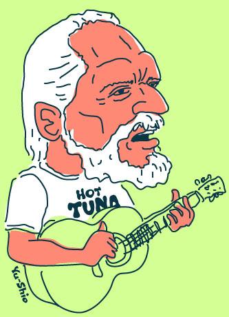 Jorma Kaukonen caricature
