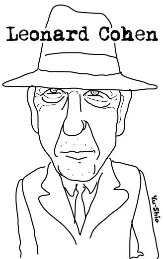 Leonard Cohen caricature