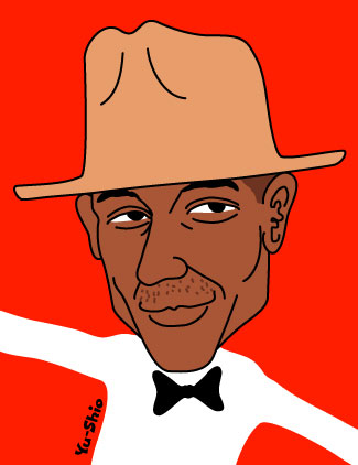 Pharrell Williams caricature