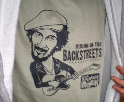 EverydayRock T Shirt Bruce Springsteen caricature