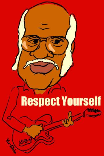 Roebuck Pops Staples caricature